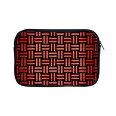 Woven1 Black Marble & Red Brushed Metal (r) Apple Ipad Mini Zipper Cases by trendistuff