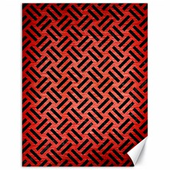 Woven2 Black Marble & Red Brushed Metal Canvas 18  X 24   by trendistuff