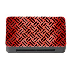 Woven2 Black Marble & Red Brushed Metal Memory Card Reader With Cf by trendistuff