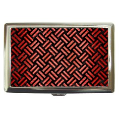Woven2 Black Marble & Red Brushed Metal (r) Cigarette Money Cases