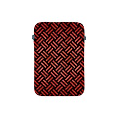 Woven2 Black Marble & Red Brushed Metal (r) Apple Ipad Mini Protective Soft Cases by trendistuff