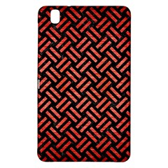 Woven2 Black Marble & Red Brushed Metal (r) Samsung Galaxy Tab Pro 8 4 Hardshell Case by trendistuff