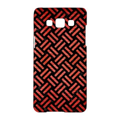 Woven2 Black Marble & Red Brushed Metal (r) Samsung Galaxy A5 Hardshell Case  by trendistuff