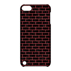 Brick1 Black Marble & Red Colored Pencil (r) Apple Ipod Touch 5 Hardshell Case With Stand by trendistuff