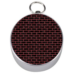 Brick1 Black Marble & Red Colored Pencil (r) Silver Compasses by trendistuff