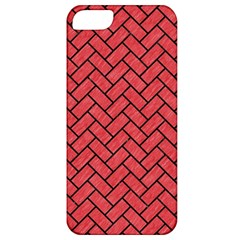 Brick2 Black Marble & Red Colored Pencil Apple Iphone 5 Classic Hardshell Case by trendistuff