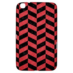 Chevron1 Black Marble & Red Colored Pencil Samsung Galaxy Tab 3 (8 ) T3100 Hardshell Case  by trendistuff