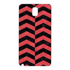 Chevron2 Black Marble & Red Colored Pencil Samsung Galaxy Note 3 N9005 Hardshell Back Case