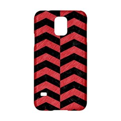 Chevron2 Black Marble & Red Colored Pencil Samsung Galaxy S5 Hardshell Case  by trendistuff