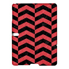 Chevron2 Black Marble & Red Colored Pencil Samsung Galaxy Tab S (10 5 ) Hardshell Case
