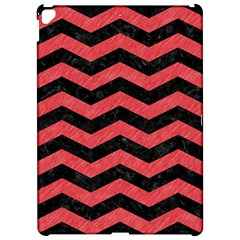 Chevron3 Black Marble & Red Colored Pencil Apple Ipad Pro 12 9   Hardshell Case by trendistuff
