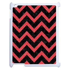 Chevron9 Black Marble & Red Colored Pencil (r) Apple Ipad 2 Case (white) by trendistuff