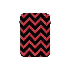 Chevron9 Black Marble & Red Colored Pencil (r) Apple Ipad Mini Protective Soft Cases by trendistuff