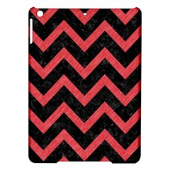 Chevron9 Black Marble & Red Colored Pencil (r) Ipad Air Hardshell Cases by trendistuff