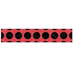 Circles1 Black Marble & Red Colored Pencil Flano Scarf (large) by trendistuff