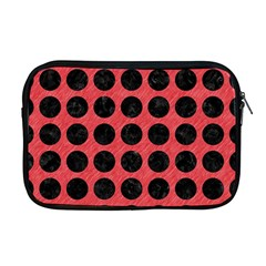 Circles1 Black Marble & Red Colored Pencil Apple Macbook Pro 17  Zipper Case by trendistuff