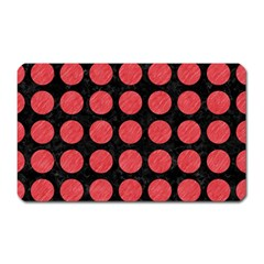 Circles1 Black Marble & Red Colored Pencil (r) Magnet (rectangular) by trendistuff