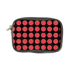Circles1 Black Marble & Red Colored Pencil (r) Coin Purse by trendistuff