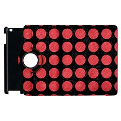 Circles1 Black Marble & Red Colored Pencil (r) Apple Ipad 2 Flip 360 Case by trendistuff