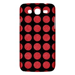 Circles1 Black Marble & Red Colored Pencil (r) Samsung Galaxy Mega 5 8 I9152 Hardshell Case  by trendistuff