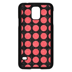 Circles1 Black Marble & Red Colored Pencil (r) Samsung Galaxy S5 Case (black) by trendistuff