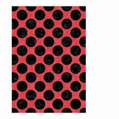 Circles2 Black Marble & Red Colored Pencil Small Garden Flag (two Sides) by trendistuff