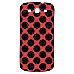 Circles2 Black Marble & Red Colored Pencil Samsung Galaxy S3 S Iii Classic Hardshell Back Case by trendistuff