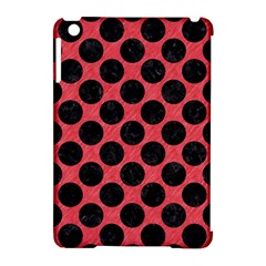 Circles2 Black Marble & Red Colored Pencil Apple Ipad Mini Hardshell Case (compatible With Smart Cover) by trendistuff
