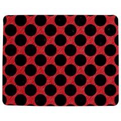 Circles2 Black Marble & Red Colored Pencil Jigsaw Puzzle Photo Stand (rectangular) by trendistuff