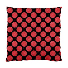 Circles2 Black Marble & Red Colored Pencil (r) Standard Cushion Case (one Side) by trendistuff