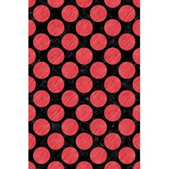 Circles2 Black Marble & Red Colored Pencil (r) 5 5  X 8 5  Notebooks by trendistuff