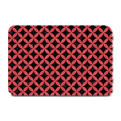 Circles3 Black Marble & Red Colored Pencil (r) Plate Mats by trendistuff