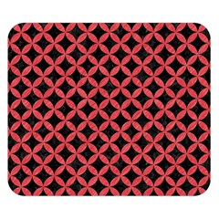 Circles3 Black Marble & Red Colored Pencil (r) Double Sided Flano Blanket (small)  by trendistuff