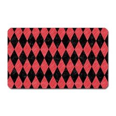 Diamond1 Black Marble & Red Colored Pencil Magnet (rectangular) by trendistuff