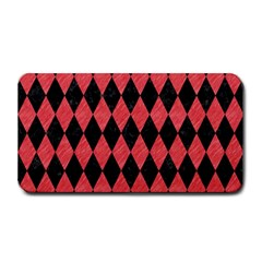Diamond1 Black Marble & Red Colored Pencil Medium Bar Mats by trendistuff