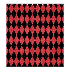 Diamond1 Black Marble & Red Colored Pencil Shower Curtain 66  X 72  (large)  by trendistuff
