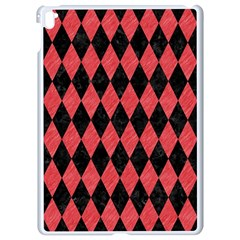 Diamond1 Black Marble & Red Colored Pencil Apple Ipad Pro 9 7   White Seamless Case by trendistuff
