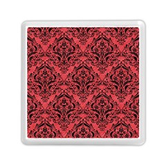 Damask1 Black Marble & Red Colored Pencil Memory Card Reader (square)  by trendistuff