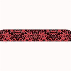 Damask2 Black Marble & Red Colored Pencil Small Bar Mats by trendistuff