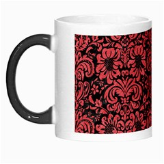 Damask2 Black Marble & Red Colored Pencil (r) Morph Mugs by trendistuff