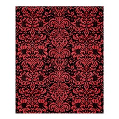 Damask2 Black Marble & Red Colored Pencil (r) Shower Curtain 60  X 72  (medium)  by trendistuff
