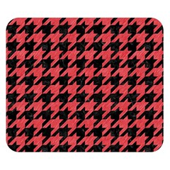 Houndstooth1 Black Marble & Red Colored Pencil Double Sided Flano Blanket (small)  by trendistuff