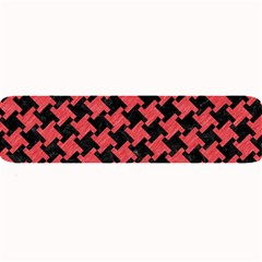 Houndstooth2 Black Marble & Red Colored Pencil Large Bar Mats by trendistuff