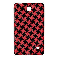 Houndstooth2 Black Marble & Red Colored Pencil Samsung Galaxy Tab 4 (7 ) Hardshell Case  by trendistuff