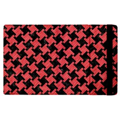 Houndstooth2 Black Marble & Red Colored Pencil Apple Ipad Pro 12 9   Flip Case