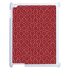 Hexagon1 Black Marble & Red Colored Pencil Apple Ipad 2 Case (white) by trendistuff