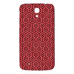 Hexagon1 Black Marble & Red Colored Pencil Samsung Galaxy Mega I9200 Hardshell Back Case by trendistuff