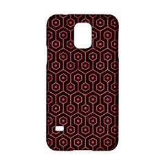 Hexagon1 Black Marble & Red Colored Pencil (r) Samsung Galaxy S5 Hardshell Case  by trendistuff