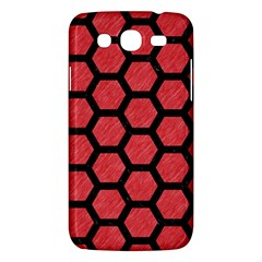 Hexagon2 Black Marble & Red Colored Pencil Samsung Galaxy Mega 5 8 I9152 Hardshell Case  by trendistuff