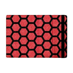 Hexagon2 Black Marble & Red Colored Pencil Ipad Mini 2 Flip Cases by trendistuff